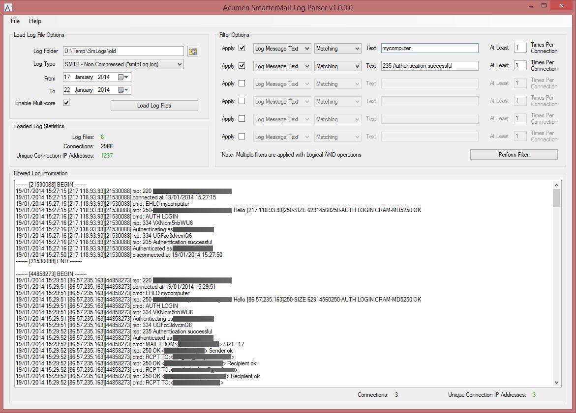 Free Log Parsing (Analyzer) Software for SmarterMail